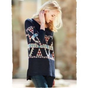 Peruvian Connection Aztec Western Pullover Sweater
